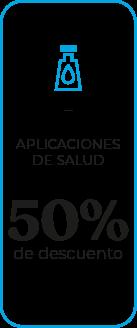 Aplicaciones de saluda 50% de descuento